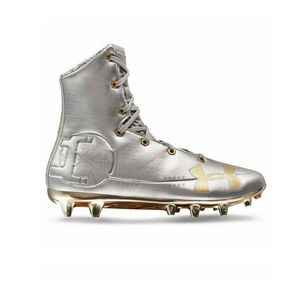 NEW Under Armour Mens Silver Football Cleats